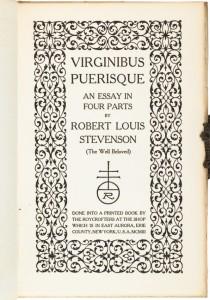 Robert louis stevenson essay on marriage